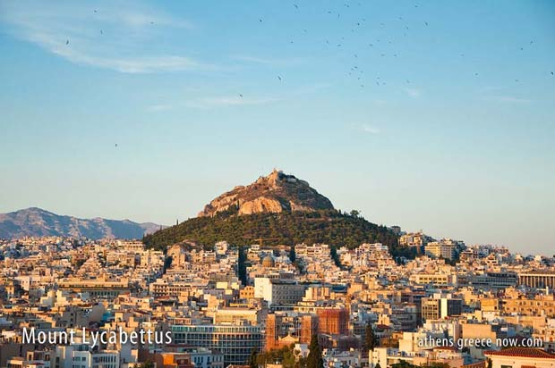 Lycabettus in Athens Greece