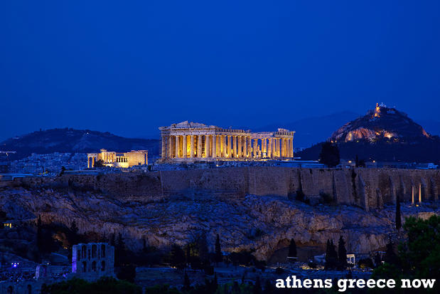Acropolis Dusk into Night