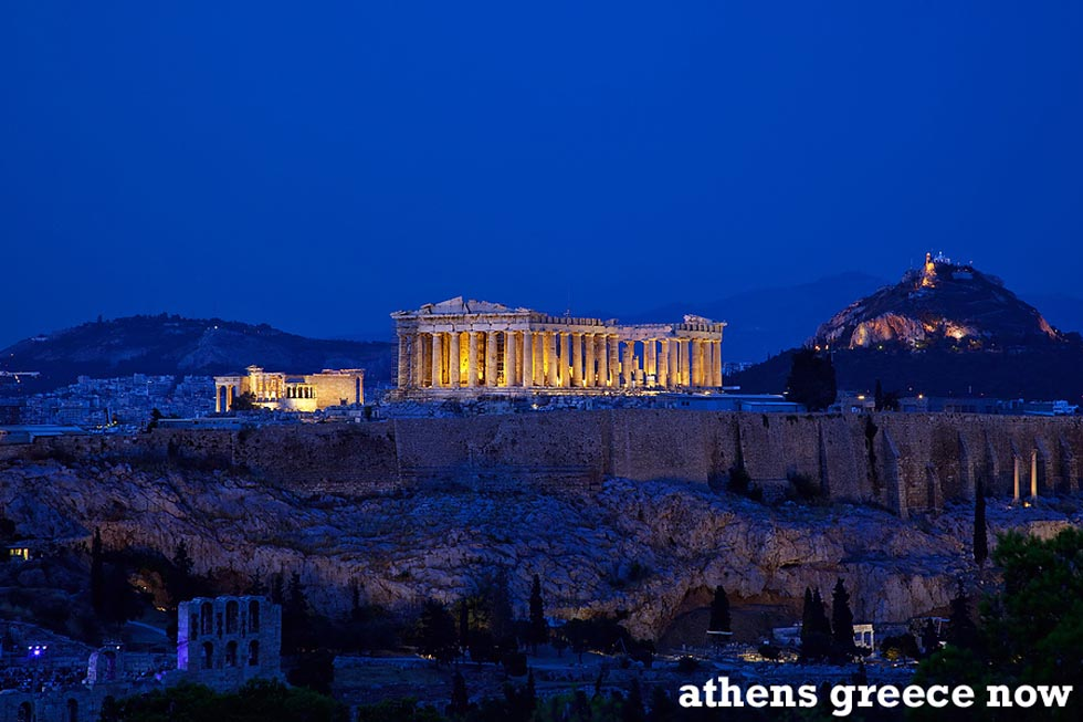 Acropolis at night - Athens Greece Dusk