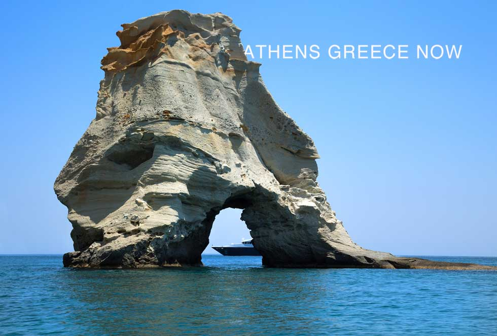Kleftiko rock waters Milos Greece