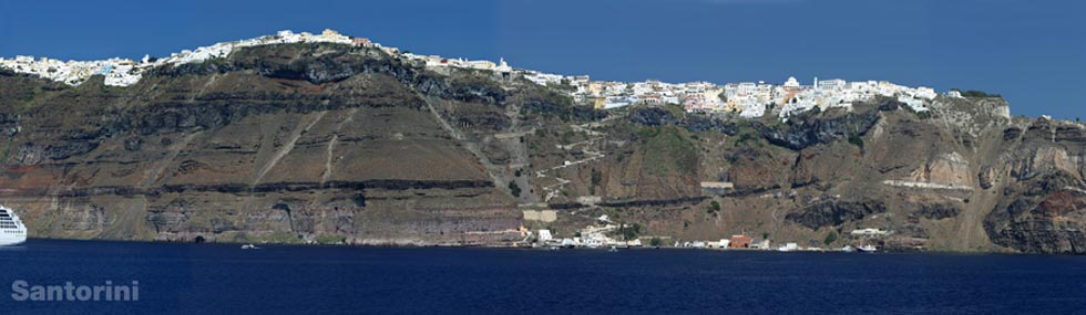 Santorini Cliffs Aegean Greece
